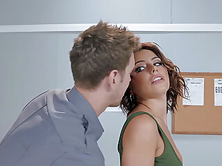 Perky Adriana Chechik ass fucked and squirts in ripped pantyhose
