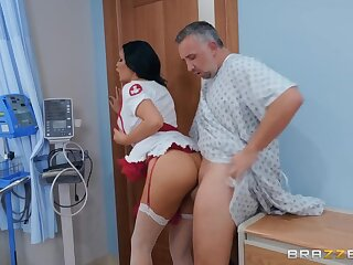 Nurse Jasmine Jae fucked by a patient in the hospital