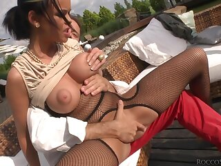 Flexible whore fucked up the ass by a really big black cock