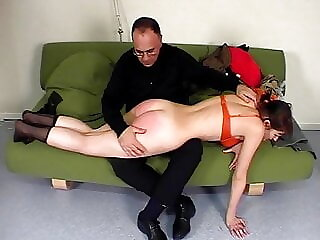 CMNF - Young French girl back for more spanking