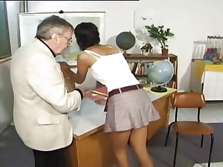 CMNF - Punished and spanked by her teacher (vintage)