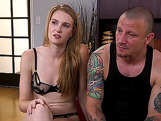 tied and horny Ashley Lane gets her pussy banged by strong guy