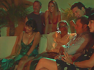 a dark room and dick eating turns on lady Mika Tan for a group sex