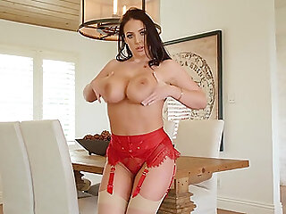 Angela White adores when her lover cum on her face after wild sex