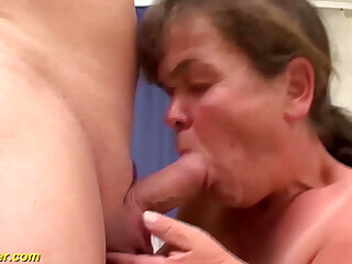 midget granny first time threesome