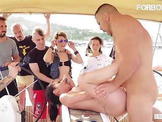 ForBondage - Thicc Teen Aisha Abused At Bondage Party On a Yacht