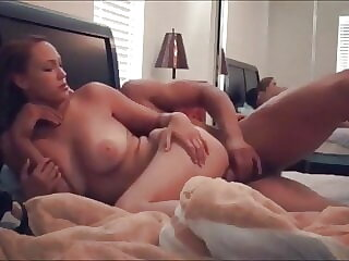 amateur big tit blonde girl fucks in the room