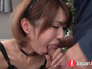 Japanese maid eaten out and sucking hard dick