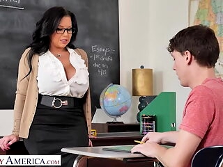 Naughty America - Professor Miller teaches student how to fu