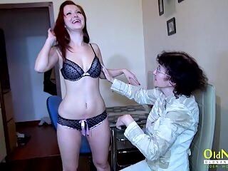 OldNannY Mature Lesbian Veronika and Teen Friend
