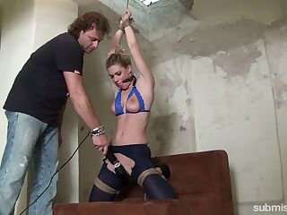 Kinky dude with a big dildo toy punishes whorish girlfriend Ally