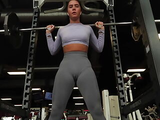 Hot gym girl insane cameltoe