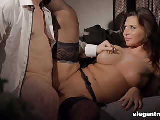 Passionate milf won't stop from fucking until she feels sperm on her boobs