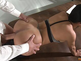 Fot woman loves it in doggy style and can't wait to swallow