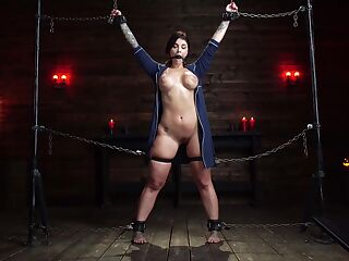 Enslaved girl with huge tits, merciless BDSM pleasures