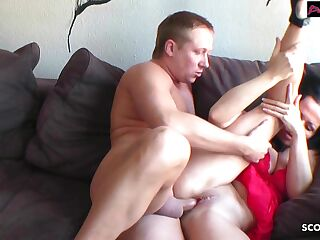 Real Homemade - German Mom Seduce Step Son to Fuck her