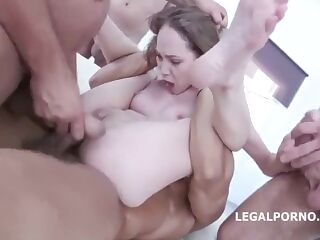 18 TEEN SLUT ASSHOLE DESTROYED DOUBLE ANAL BUKKAKE