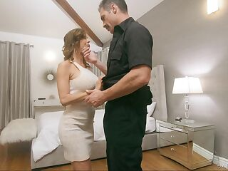 Police officer fucks juggy wife Alexis Fawx in front of her husbands