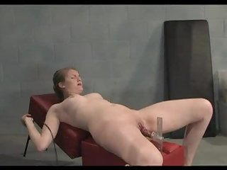 Cute Blonde Getting Drilled By a Fucking Machine