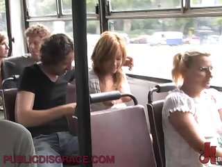 Sexy Blonde Rides A Big Cock On Top Of A Public Bus