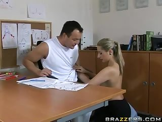 Busty Blonde Teacher Daria Glover Fucking Her Student's Big Dick