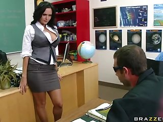 Busty Brunette Teacher Ava Addams Fucking Her Favorite Student