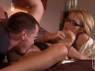 Big Breasted Blonde In Glasses Krissy Lynn Gets Fucked and a Mouthful