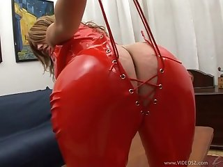 Lucrezia In Sexy Red Latex