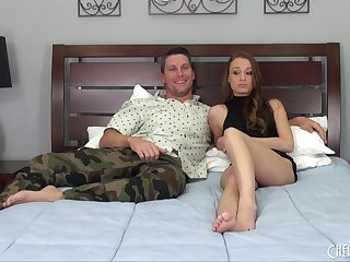 Guy nailed Kacy Lane then shoots his load all over her tits