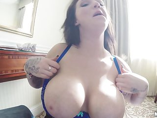 Extremely busty British slut is willing to fuck strangers