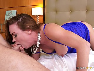 Stepmom with massive melons loves to get fucked hard