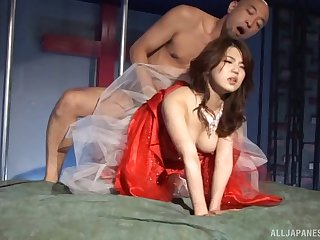 Japanese slave girl fucked and splattered by hot wax