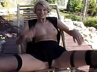 Two skinny blonde chicks get fucked rough in hot threesome video