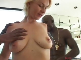 Alice the lovely blonde get gangbanged by Black guys